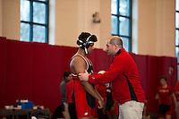 St Paul's School Wrestling with Tilton School and Exeter Academy.  ©2015 Karen Bobotas Photographer