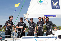 Black Match Racing after winning Match Race Germany 2010. World Match Racing Tour. Langenargen, Germany. 24 May 2010. Photo: Gareth Cooke/Subzero Images/WMRT