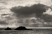 The Brisons rocks, off Cape Cornwall, locally known as Charles de Gaul lying in a bathtub - think about it :-)
