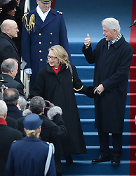 Former President Bill Clinton and Secretry of State Hillary Clinton arrive for U.S. President Barack Obama to be sworn-in for a second term as the President of the United States by Supreme Court Chief Justice John Roberts during his public inauguration ceremony at the U.S. Capitol Building in Washington, DC, USA, on January 21, 2013. Photo by Pat Benic/Pool/ABACAPRESS.COM