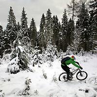 Mountain biking.Photograph David Cheskin.