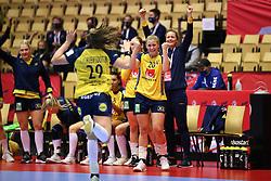 HERNING, DENMARK - DECEMBER 3, 2020: Isabelle Gulldén (20) of Sweden during the EHF Euro 2020 Group C match between Sweden and Czech Republic in Jyske Bank Boxen, Herning, Denmark on December 3 2020. Photo Credit: Allan Jensen/EVENTMEDIA.