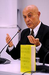 Italy, Milan   - November 17, 2018.The former Italian Interior Minister Marco Minniti  presents his book  'Sicurezza e liberta' (Credit Image: © Maule/Fotogramma/Ropi via ZUMA Press)