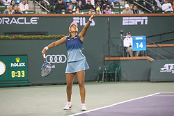 March 9, 2019 - Indian Wells, CA, U.S. - INDIAN WELLS, CA - MARCH 09: Naomi Osaka (JPN) serves during the BNP Paribas Open on March 9, 2019 at Indian Wells Tennis Garden in Indian Wells, CA. (Photo by George Walker/Icon Sportswire) (Credit Image: © George Walker/Icon SMI via ZUMA Press)