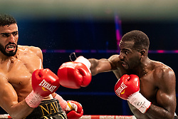17-11-2019 NED: World Port Boxing Danyo - Mansouri, Rotterdam<br /> 3rd World Port Boxing in Excelsior Stadion Rotterdam / Stephen Danyo win the WBA Continental titel against Englishman Navid Mansouri after 12 rounds.