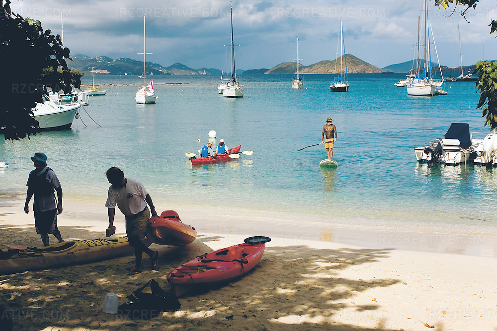Cruz Bay on the island of St. John, part of the U.S. Virgin Islands.