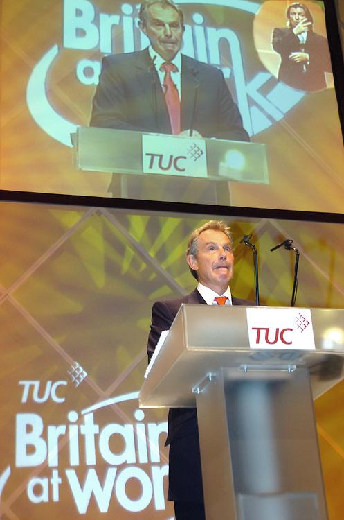 Tony Blair at TUC Conference