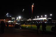 supporters arrive before match.FA cup with Budweiser, 1st round replay, Newport county v Braintree Town at Rodney Parade in Newport, South Wales on Tuesday 19th November 2013. pic by Andrew Orchard, Andrew Orchard sports photography,