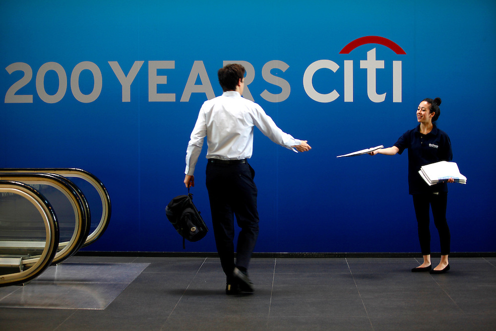 The Daily Telegraph and Citigroup join together to promote Citi's 200 years of operation, London