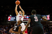 DALLAS, TX - FEBRUARY 6: Nic Moore #11 of the SMU Mustangs shoots the ball against the Temple Owls on February 6, 2014 at Moody Coliseum in Dallas, Texas.  (Photo by Cooper Neill) *** Local Caption *** Nic Moore