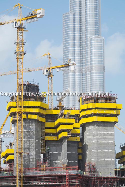New skyscraper under construction in Dubai United Arab Emirates
