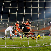 Besiktas's Karim Koyunlu (C) goal during their Turkish Super League soccer match Istanbul Basaksehir between Besiktas at the Basaksehir Fatih Terim Arena at Basaksehir in Istanbul Turkey on Sunday, 09 November 2014. Photo by Kurtulus YILMAZ/TURKPIX