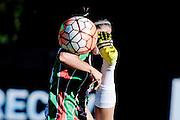 20161206/ Javier Calvelo - adhocFOTOS/ URUGUAY/ MONTEVIDEO/  DEPORTE - FUTBOL/ Copa Libertadores Femenina/ Uruguay recibe al torneo de clubes de mujeres más importante de Sudamérica. <br /> Los grupos A y B disputarán la Fase de Grupos en Montevideo. En el estadio Charrúa de Montevideo Colón FC de Uruguay vs. Deportivo UAI Urquiza de Argentina. Colón le ganó 2:1 a UAI Urquiza de Argentina, en su debut en la Copa Libertadores de América de Fútbol Femenino.<br /> En la foto: Colón FC de Uruguay vs. Deportivo UAI Urquiza de Argentina por la Copa Libertadores de Fútbol Femenino en el Charrúa. Foto: Javier Calvelo/ adhocFOTOS