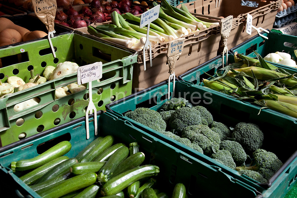 Organic vegetables for sale a a stall. Borough Market is a thriving Farmers market near London Bridge. Saturday is the busiest day.