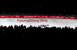 South Korea's Aileen Christina Frisch in the Women's Luge Singles Run during day three of the PyeongChang 2018 Winter Olympic Games in South Korea. PRESS ASSOCIATION Photo. Picture date: Monday February 12, 2018. See PA story OLYMPICS Luge. Photo credit should read: David Davies/PA Wire. RESTRICTIONS: Editorial use only. No commercial use.