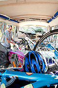 Camper and bikes