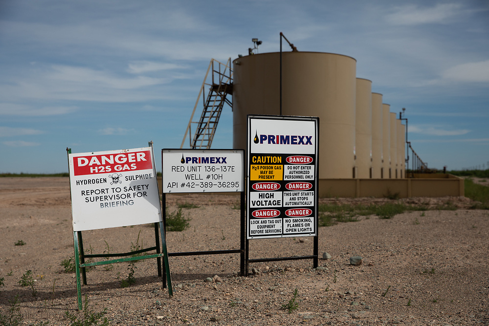 Primexx Fracking industry site in the Permain Basin.
