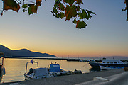 View of the Sea from the city old town of Kavala,  Macedonia, Greece