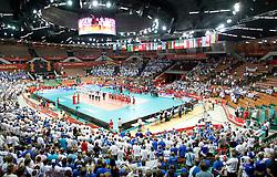 07.09.2014, Spodek, Katowice, POL, FIVB WM, Tunesien vs Finnland, Gruppe B, im Bild SPODEK HALA WIDOK // during the FIVB Volleyball Men's World Championships Pool B Match beween Tunisia and Finland at the Spodek in Katowice, Poland on 2014/09/07.<br /> <br /> ***NETHERLANDS ONLY***