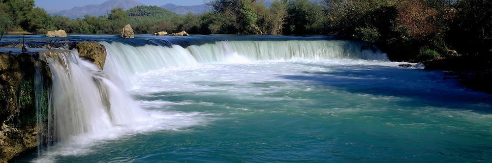 TURKEY, SOUTH COAST, MEDITERRANEAN Manavgat Selalesi (Manavgat Falls) east of Antalya