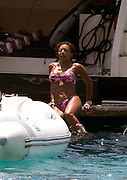 IBIZA, SPAIN, JULY 02 <br /> <br /> Mel B and husband Stephen Belafonte enjoying the great Ibiza island in a boat and with friends<br /> ©Exclusivepix Media