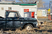 Chevy truck along State Highway 95 in rural Mina, Nevada
