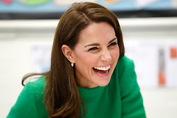 The Duchess of Cambridge during a visit to Lavender Primary School in Enfield, north London, in support of Place2Be's Children's Mental Health Week 2019.