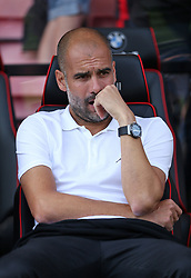 Manchester City manager Pep Guardiola before the Premier League match at the Vitality Stadium, Bournemouth