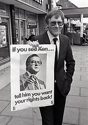 National Union of Teachers protest at visit of Kenneth Baker MP (Sec State Education) to Nottingham UK April 1987