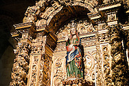 Statue of the pregnant Virgin Mary, in the Cathedral in Évora, built in the 13th-14th century in Romanesque-Gothic style, is the largest cathedral in Portugal. Évora, Alentejo, Portugal © Rudolf Abraham