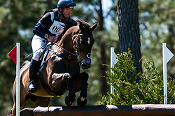 March 22, 2019 - Raeford, North Carolina, US - March 23, 2019 - Raeford, N.C., USA - CLAYTON FREDERICKS of Australia riding LUKSOR competes in the cross country CCI-4S division at the sixth annual Cloud 11-Gavilan North LLC Carolina International CCI and Horse Trial, at Carolina Horse Park. The Carolina International CCI and Horse Trial is one of North AmericaÃ•s premier eventing competitions for national and international eventing combinations, hosting International competition at the CCI2*-S through CCI4*-S levels and National levels of Training through Advanced. (Credit Image: © Timothy L. Hale/ZUMA Wire)