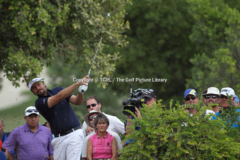 Victor DUBISSON (FRA) during fourth round DP World Tour Championship 2013,Jemeirah Golf Estates, Dubai,UAE.