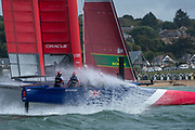 SailGP Team GBR practiceing before racing. Race Day. Event 4 Season 1 SailGP event in Cowes, Isle of Wight, England, United Kingdom. 11 August 2019: Photo Chris Cameron for SailGP. Handout image supplied by SailGP