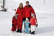 lech, Austria, February 16th, 2009 -<br /> Royal Winter Photocall 2009 -<br /> Princess Maxima, Crown Prince Willem Alexander, Princess Amalia, Princess Alexia and Princess Ariane