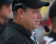 Lindenwood University - Belleville head coach Jeff Fisher watches a play in the first half in their Homecoming Game against the Menlo College Oaks.