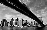 The Brooklyn Bridge and Lower Manhattan