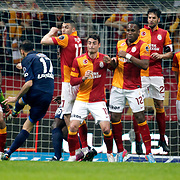 Galatasaray's players during their Turkish Super League soccer match Galatasaray between IBBSpor at the AliSamiyen Spor Kompleksi TT Arena at Seyrantepe in Istanbul Turkey on Saturday, 30 March 2013. Photo by Aykut AKICI/TURKPIX