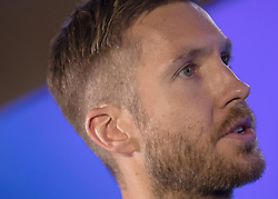 Calvin Harris in the on air studio during Capital's Summertime Ball. The world's biggest stars perform live for 80,000 Capital listeners at Wembley Stadium at the UK's biggest summer party.
