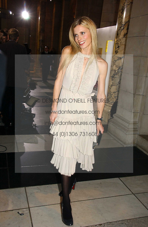 LAURA BAILEY at the British Fashion Awards 2006 sponsored by Swarovski held at the V&A Museum, Cromwell Road, London SW7 on 2nd November 2006.<br />