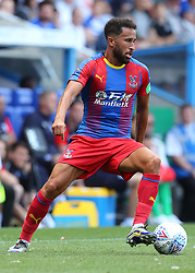 """Crystal Palace's Andros Townsend during the pre-season friendly match at the Madejski Stadium, Reading. PRESS ASSOCIATION Photo. Picture date: Saturday July 28, 2018. See PA story SOCCER Reading. Photo credit should read: Mark Kerton/PA Wire. RESTRICTIONS: EDITORIAL USE ONLY No use with unauthorised audio, video, data, fixture lists, club/league logos or """"live"""" services. Online in-match use limited to 75 images, no video emulation. No use in betting, games or single club/league/player publications."""
