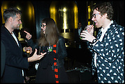 CHARLOTTE COLBERT; PHILIP COLBERT, Party to celebrate Vanity Fair's very British Hollywood issue. Hosted by Vanity Fair and Working Title. Beaufort Bar, Savoy Hotel. London. 6 Feb 2015
