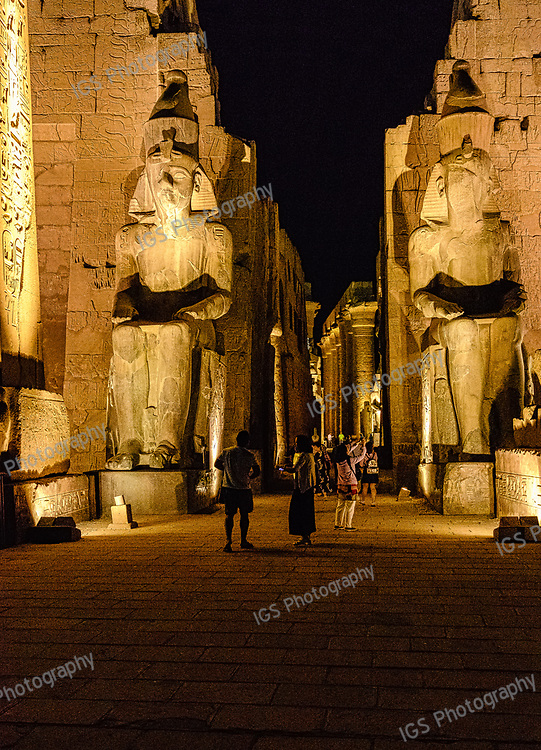 Colossal statues of Rameses II at the entrance of Luxor Temple