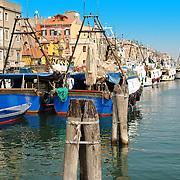 Boats in Italian coast near Venice