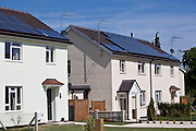 The low carbon refurbishment project on Borough Grove in Petersfield, Hampshire, UK.  These homes have been refurbished and developed by Radian as part of their 'Retrofit South East' project.