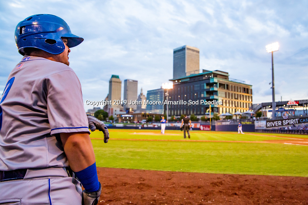 Amarillo Sod Poodles infielder Kyle Overstreet (3) against the Tulsa Drillers during the Texas League Championship on Friday, Sept. 13, 2019, at OneOK Field in Tulsa, Oklahoma. [Photo by John Moore/Amarillo Sod Poodles]