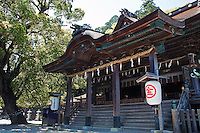 Konpira-dai-gongen or simply Konpira Shrine is a Shinto shrine in the town of Kotohira in Kagawa Prefecture.  It is was founded during the first century and located at halfway to the top of Mount Zozu, the shrine stands at the end of a long stairway of 1,368 steps to the inner shrine. Since the Muromachi Period pilgrimages to the shrine became popular.