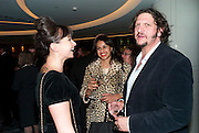 GIZZI ERSKINE; RAVINDER BHOGAL; ; JAY RAYNER;  , The French Laundry reception to celebrate the October opening of the 10-day pop-up ' French laundry restaurant in Harrods. The Penthouse, Harrods. London. 31 August 2011.<br /> <br />  , -DO NOT ARCHIVE-© Copyright Photograph by Dafydd Jones. 248 Clapham Rd. London SW9 0PZ. Tel 0207 820 0771. www.dafjones.com.