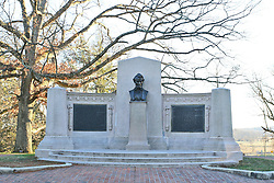 11.01.2016, Museum, Gettysburg, USA, Battle of Gettysburg, im Bild Auf dem Soldiers National Cemetary hielt US-Praesident Abraham Lincoln seine beruehmte Gettysburg-Rede, Schlachtfeld von Gettysburg // View the historic site of the Battle of Gettysburg at Museum in Gettysburg, United States on 2016/01/11. EXPA Pictures © 2016, PhotoCredit: EXPA/ Eibner-Pressefoto/ Hundt<br /> <br /> *****ATTENTION - OUT of GER*****