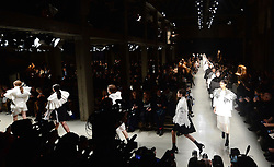 Models on the catwalk during the Burberry Autumn/Winter 2017 London Fashion Week show at Makers House , London.