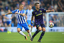 15 October 2017 -  Premier League - Brighton and Hove Albion v Everton - Morgan Schneiderlin of Everton in action with Anthony Knockaert of Brighton and Hove Albion - Photo: Marc Atkins/Offside